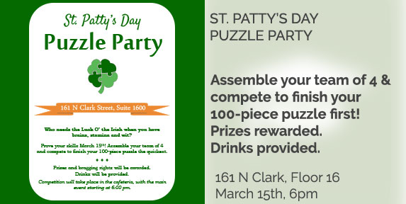 St. Patty's Puzzle Party